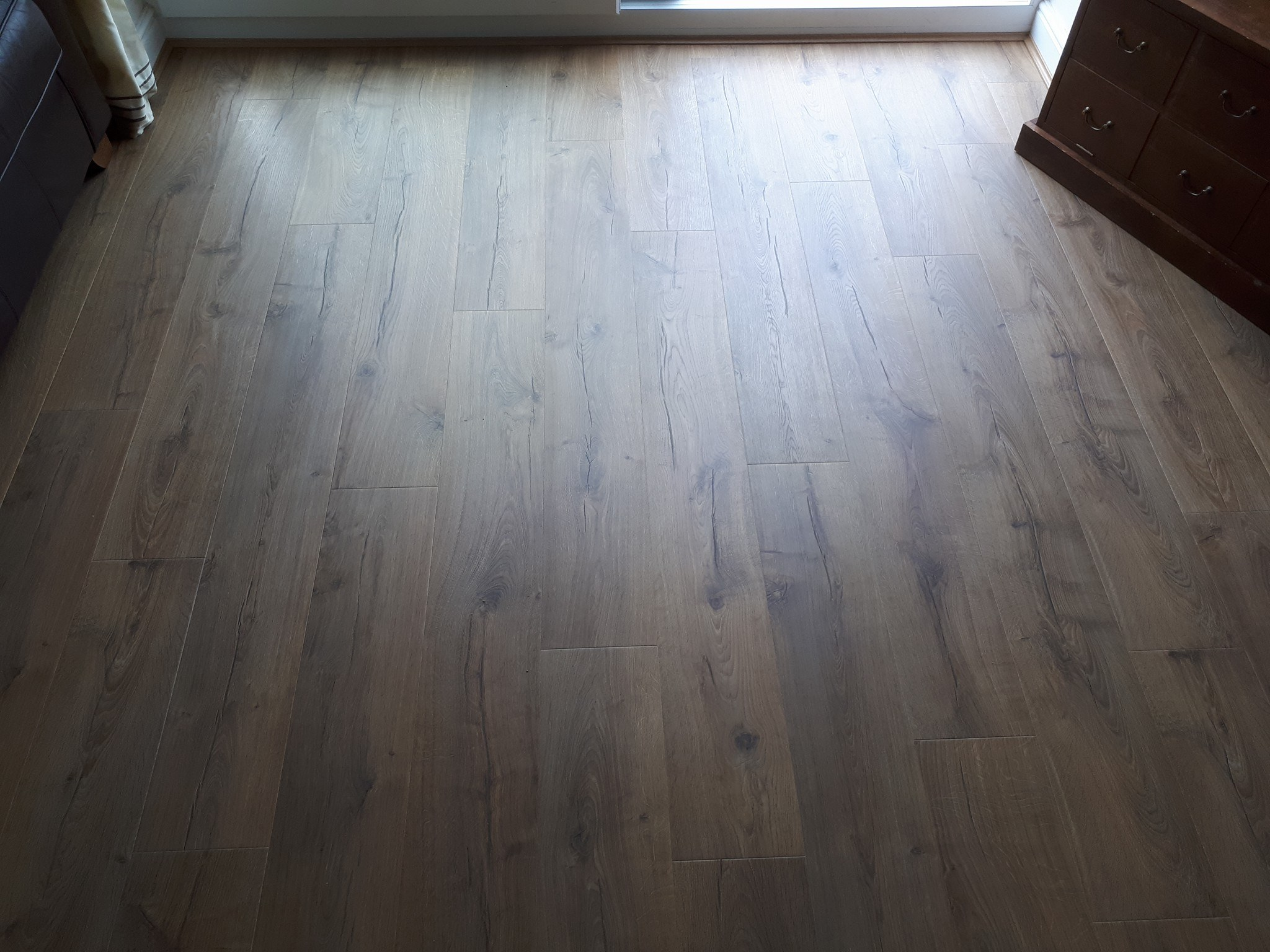 Natural Oak Laminate Flooring Prestatyn North Wales Wa