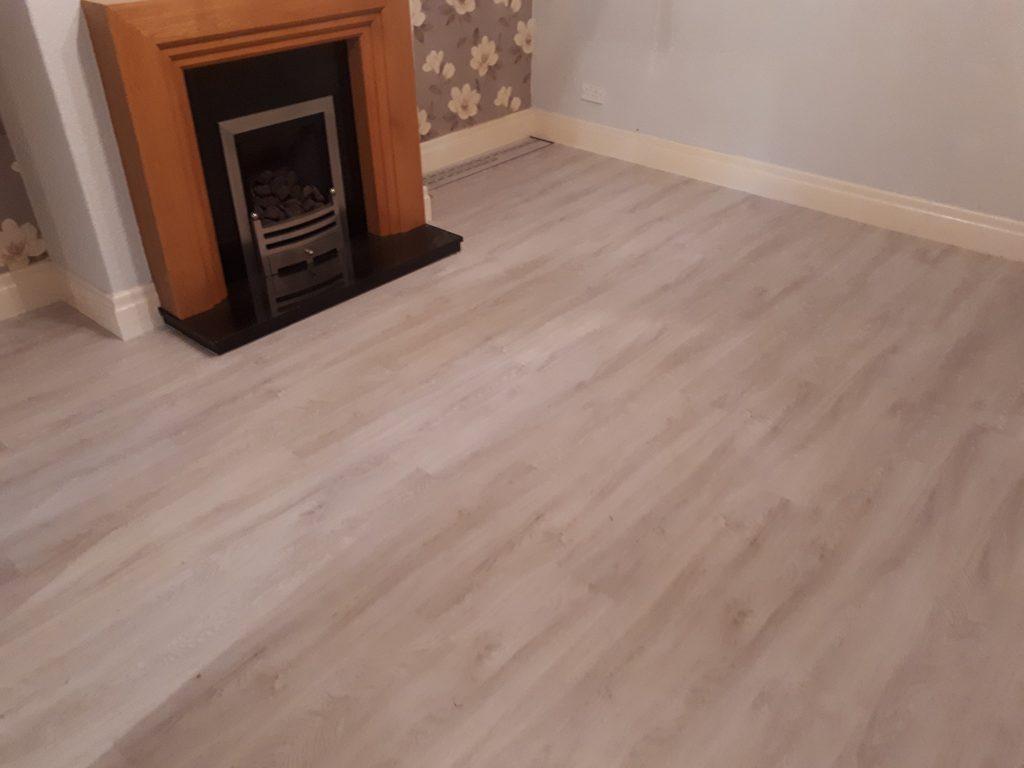 Bianco Oak Luxury Vinyl Tiles Installed In Denbigh North